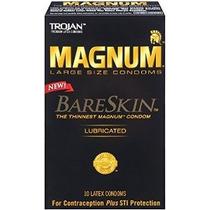 Trojan Magnum Bareskin Lubricado Condones 10ct
