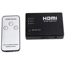 Switch Divisor Splitter Hdmi 3 Puertos + Control Remoto