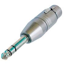 Adaptador Neutrik Xlr Hembra 3 Pin A Plug Estereo 1/4 Na3fp