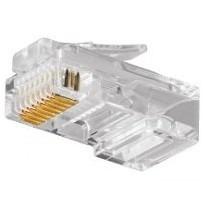 Plug Conector Rj45 Para Cable Red Utp Cat 5e 100 Pzas.