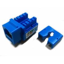 Jack Rj45 Conector Red Utp Cat6 Cat 6 Gigabit Azul
