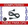 Cable De Corriente Para Pc, Cpu, Monitor, Lcd, Proyectores,