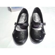 Zapatos Escolar Negro Niña 24.5 Mex