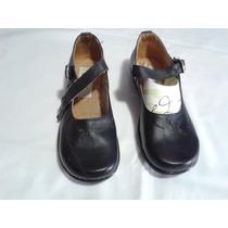 Zapatos Escolar Negro Niña 22.5 Mex