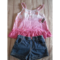 Conjunto Blusa Y Short - Niña Talla 7 - Unico - Faded Glory