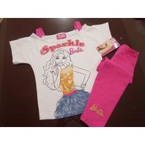 Conjunto Playera Blusa Y Mallon Para Niña Barbie 6 Años