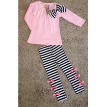 Conjunto Para Niña 2 Piezas Pantalon Y Blusa Talla 3 Nuevo