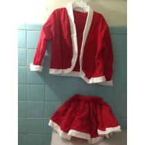 Trajecito De Santa Claus Disfraz Para Niña Talla 5