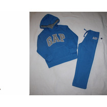 Gap Conj Azul Rey Sudadera C/gorro Y Pantalon Niño/a Talla 5