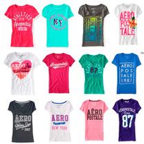 Lote 10 Playeras Aeropostale Mujer 2016 Usa Envio Gratis !!