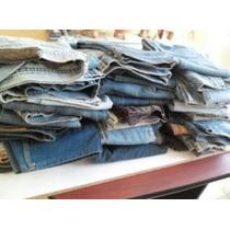 Pantalones De Mezclilla Mixtos, 40 Pzas (bastillas Gastadas)