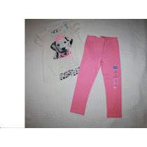 ~the Children Conj Blusa Perrito Y Leggings Rosita Niña T 3