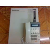 Conmutador Panasonic 8 Lins 24 Exts Con Tel Programador 7030