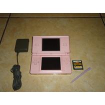 Nintendo Ds Lite Color Rosa + Juego + Cargador +++