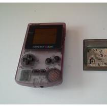 Gameboy Color Purpura Trasparente+juego Action Man