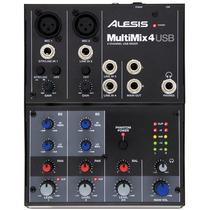 Alesis Multimix 4 Usb D 4 Canales Consola Mezcladora Phantom