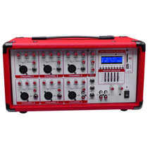 Mezcladora Usb Sd Amplificada 6ch 300w Rms Red Edition Xaris