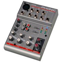 Mezcladora Análoga Compacta Phonic Serie Am-55