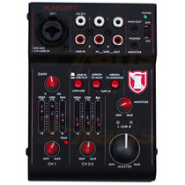 Mezcladora Y Controlador Usb Audio Profesional De 3 Canales.
