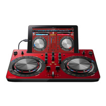 Controlador Virtual Pioneer Ddj-wego3 Mixer Color Rojo