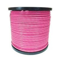 Cable De Acero Recubrimiento Pvc 7x7 3/16-1/4 150 M Rosa