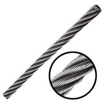 Cable De Acero Galvanizado En Rollo 7x7 3/16 Y 300 M. Obi