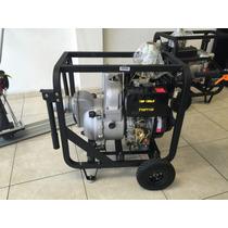 Bomba De Agua Motor Diésel 14 Hp Traga Sólidos 4x4