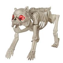 Esqueleto De Perro Articulado,.ojos Led,dia Muertos