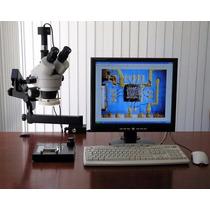 Microscopio Amscope Sm-6tpz-64s-5m Digital Professional