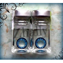 Pupilentes Cosplay, Ojo De Muñeca Circle Lenses Anual Azules