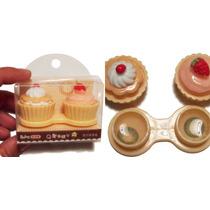 Case Estuche Porta Pupilentes Lentes Cupcakes Pasteles Moda