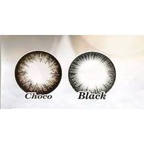 Pupilentes Cosplay, Ojo De Muñeca Circle Lenses Anual Negros