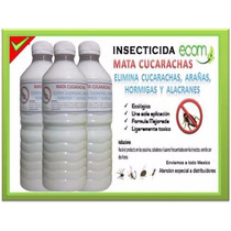 2 Frascos Efectivo Mata Cucarachas 1 Año En Una Aplicación