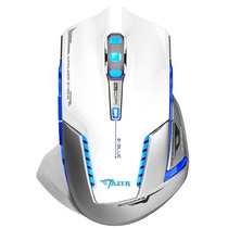 Mouse E-3lue Mazer Ii 2500dpi Gamer Led Inalambrico Blanco