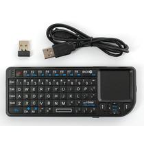 Teclado Mini Wireless Usb C/touchpad Rii Tek Recargable