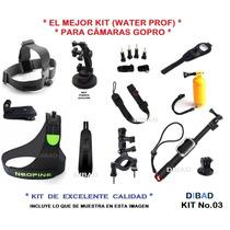 Go Pro - Kit Accesorios - El Mejor - 100% Calidad - Neopreno