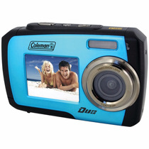 Coleman Duo 2v7wp-bl 14mp Waterproof Dual Lcd Color Azul