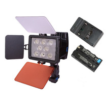 Lampara Para Video Profesional 8 Leds Alta Potencia En Kit