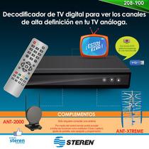 Decodificador De Tv Digital Steren Evita El Apagon Analogico