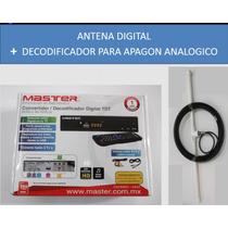 Antena Hd + Decodificador Digital Para Tv Apagon Analogico