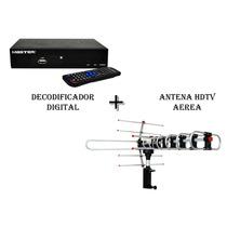Kit Decodificador + Antena Hdtv Aerea Para Exterior