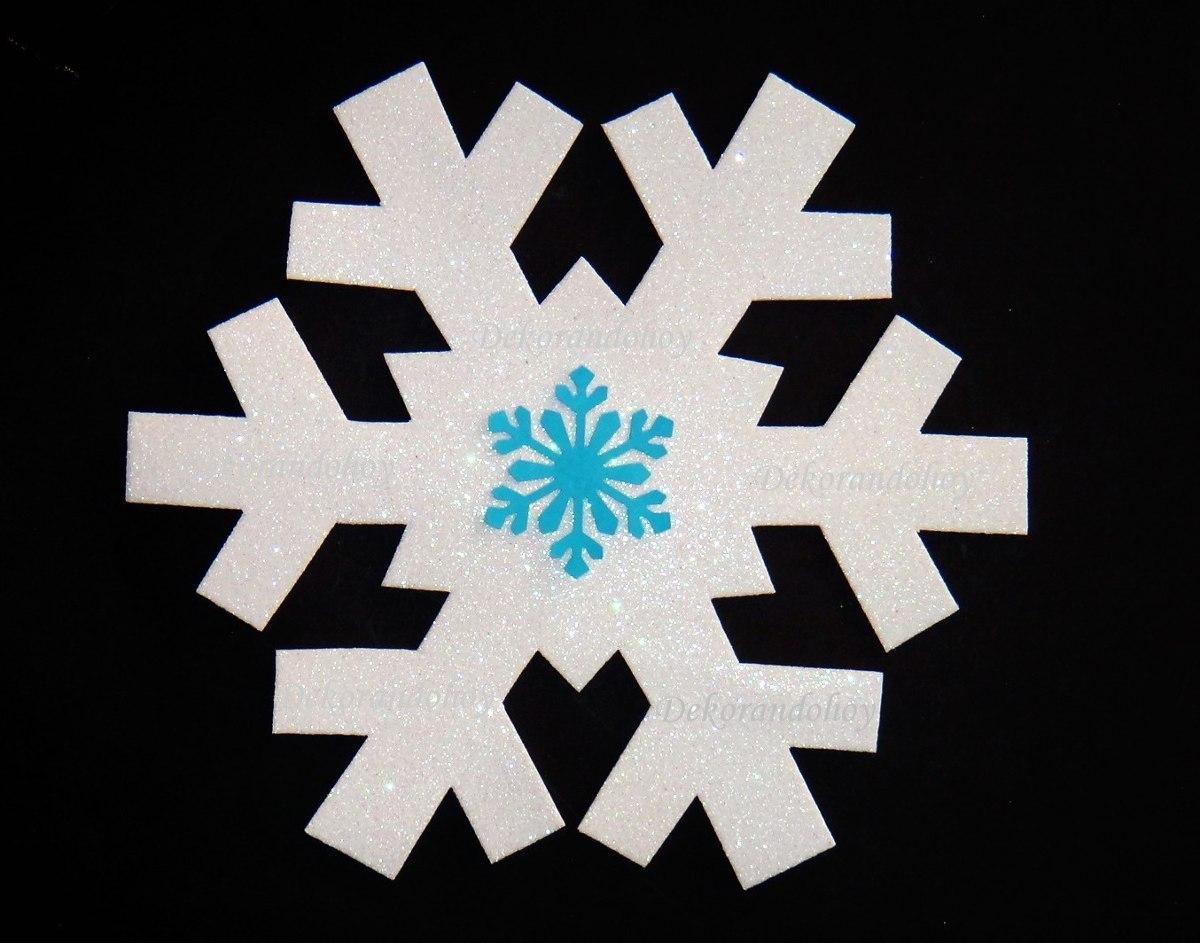 Copos nieve frozen goma eva foamy adorno navidad - Decoracion navidad goma eva ...