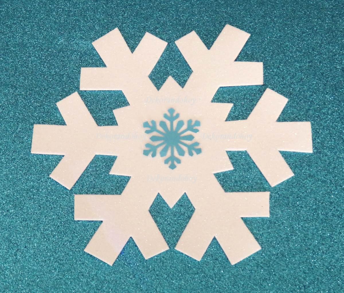 The gallery for copos de nieve de frozen - Adornos para navidad ...