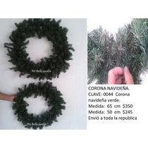 Corona Navideña Verde Decorativa Maa