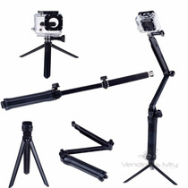 Soporte 3 Way Gopro Baston Monopod Montura Adaptador Pole