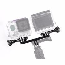 Montura Doble Gopro Dual Monopod Adaptador Accesorios Go Pro