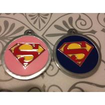 Super Placas Para Perro Tipo Superman & Superchica