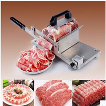 Máquina Manual Rebanadora De Carne De Acero Inoxidable