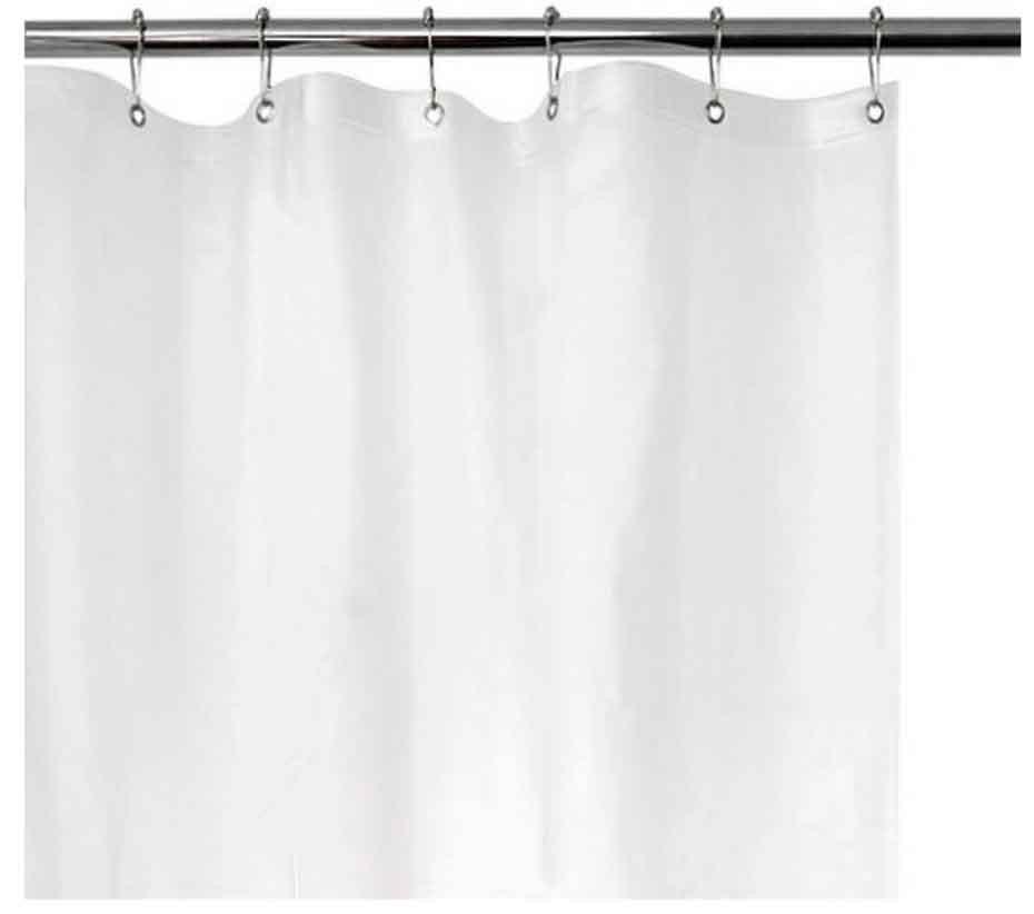 Cortinas De Baño Blancas:Cortina Bano Blanca O Beige Solida Plastica Vinil 183 X178 – $ 9700