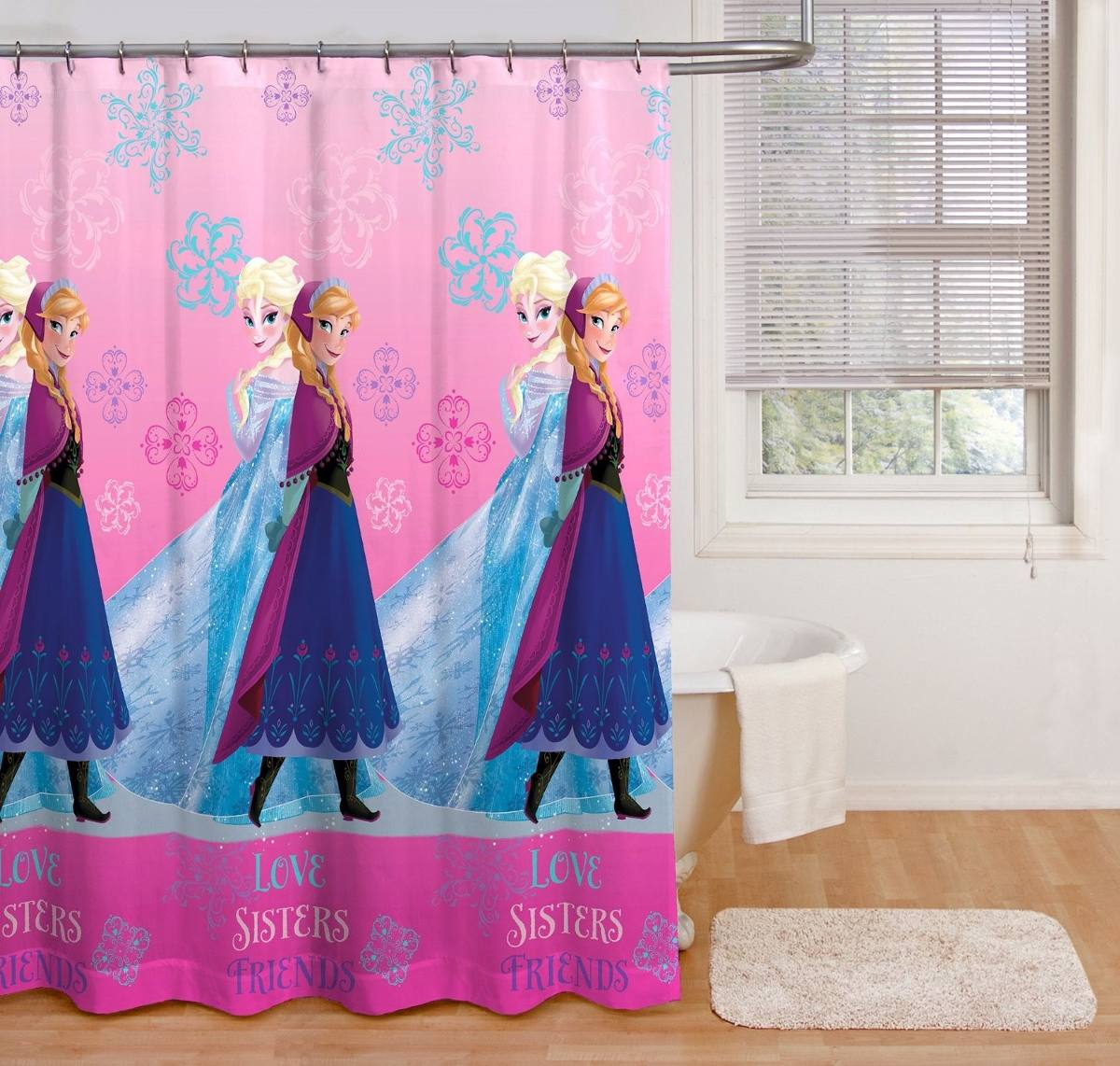 Baño Para Jardin Infantil:Cortinas Para Baño Infantil Disney Frozen – $ 38000 en MercadoLibre